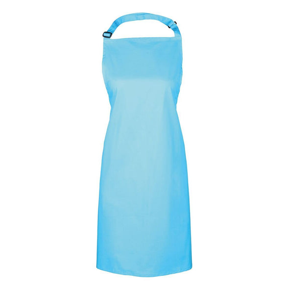 Colours Bib Apron - No pocket Aprons Premier Cyan
