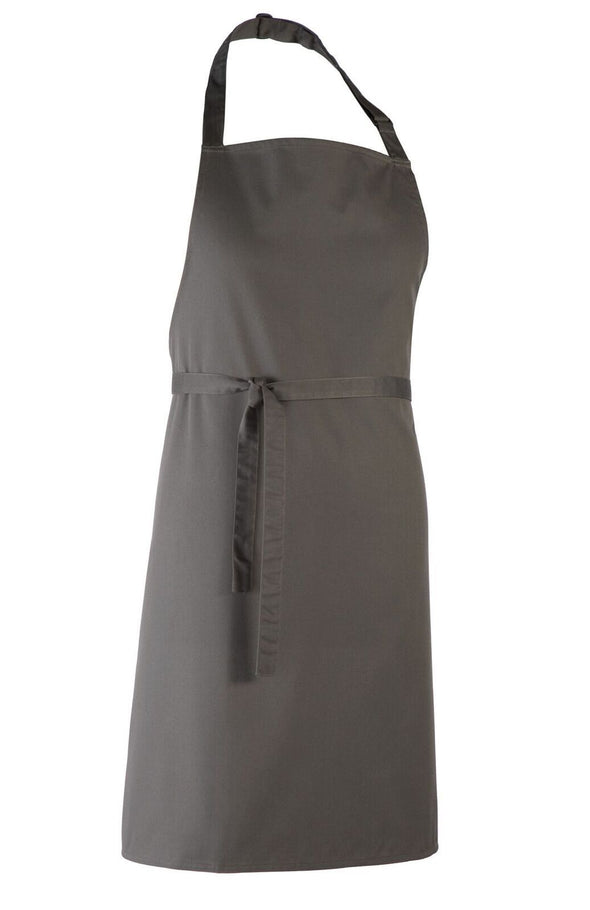 Colours Bib Apron - No pocket Aprons Premier Dark Grey