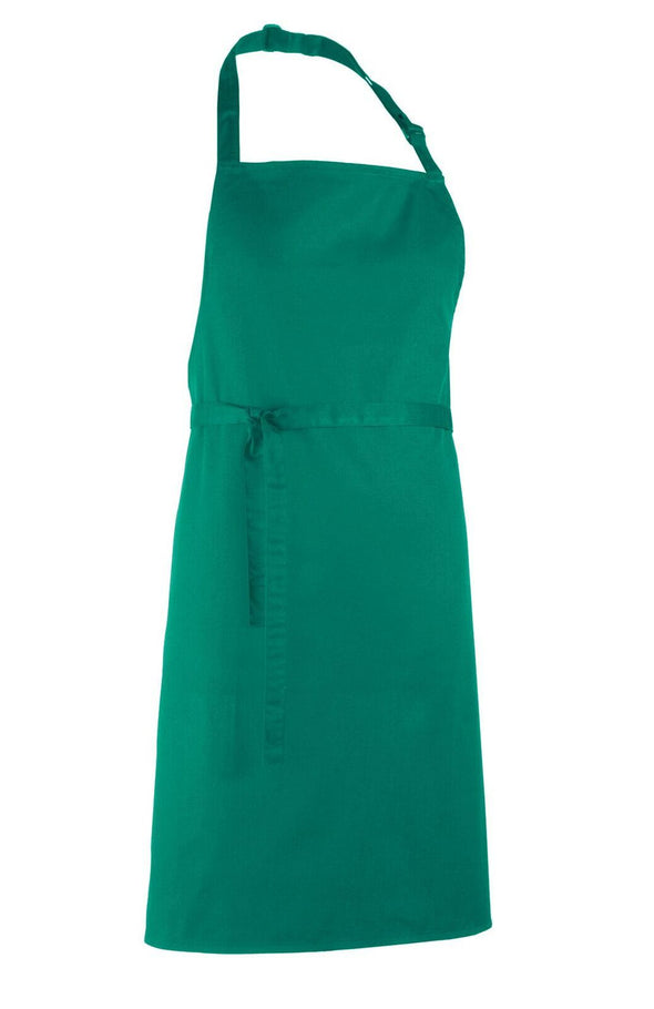 Colours Bib Apron - No pocket Aprons Premier Emerald