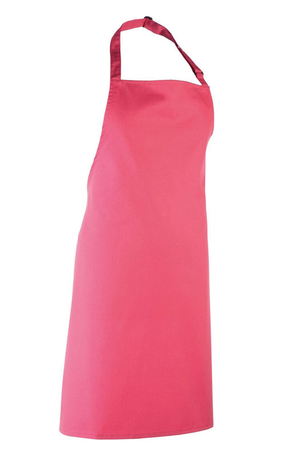 Colours Bib Apron - No pocket Aprons Premier Fuchsia