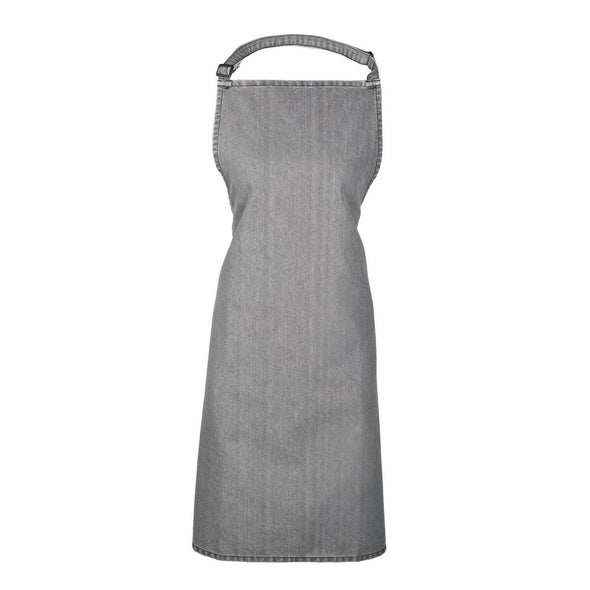 Colours Bib Apron - No pocket Aprons Premier Grey Denim
