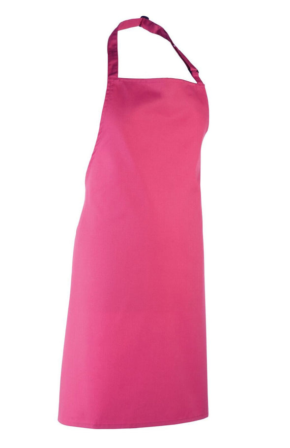 Colours Bib Apron - No pocket Aprons Premier Hot Pink