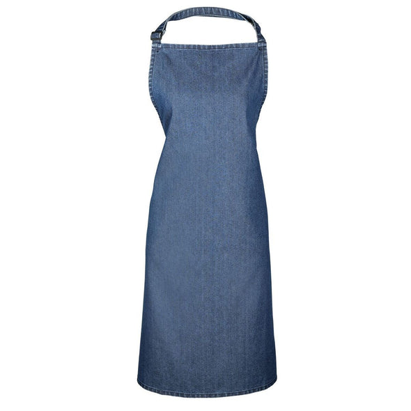 Colours Bib Apron - No pocket Aprons Premier Indigo Denim
