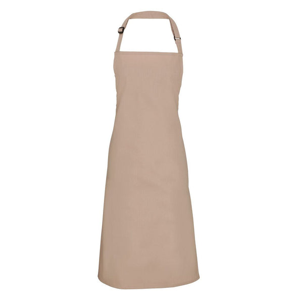 Colours Bib Apron - No pocket Aprons Premier Latte