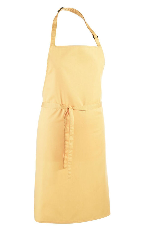 Colours Bib Apron - No pocket Aprons Premier Lemon
