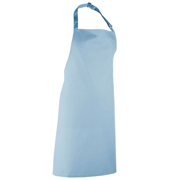 Colours Bib Apron - No pocket Aprons Premier Light Blue