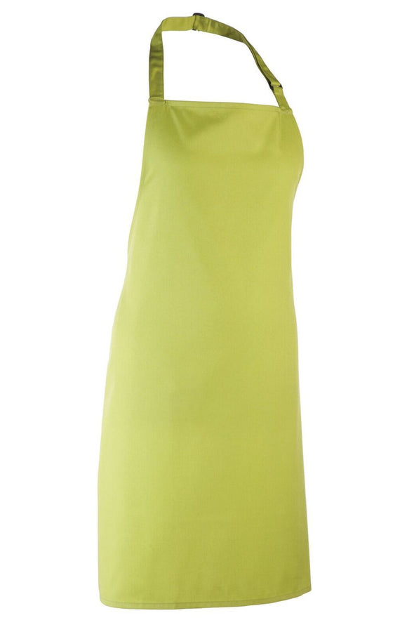 Colours Bib Apron - No pocket Aprons Premier Lime