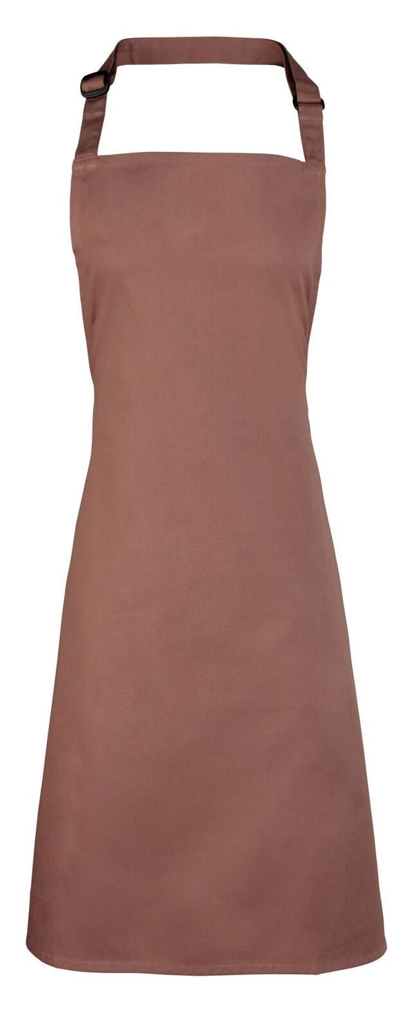 Colours Bib Apron - No pocket Aprons Premier Mocha