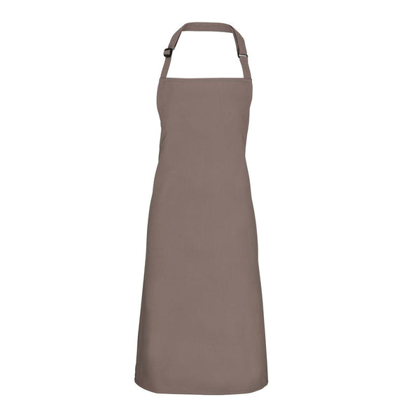 Colours Bib Apron - No pocket Aprons Premier Mushroom