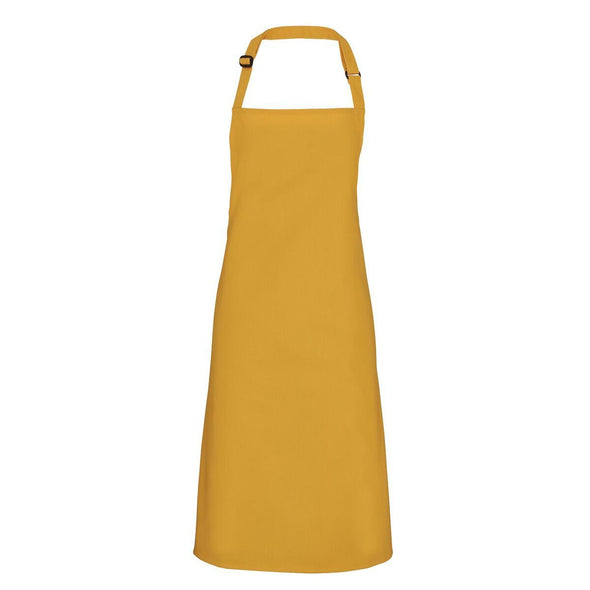 Colours Bib Apron - No pocket Aprons Premier Mustard