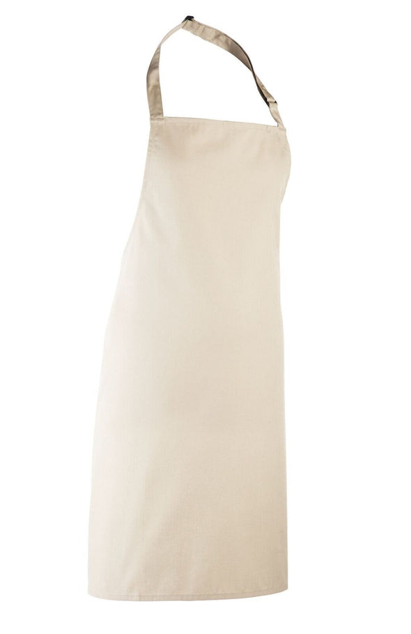 Colours Bib Apron - No pocket Aprons Premier Natural