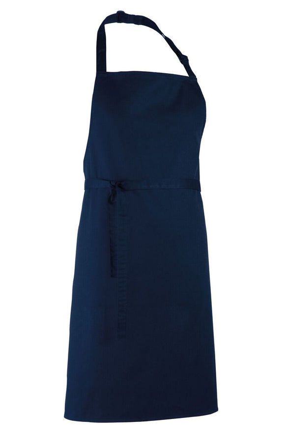 Colours Bib Apron - No pocket Aprons Premier Navy