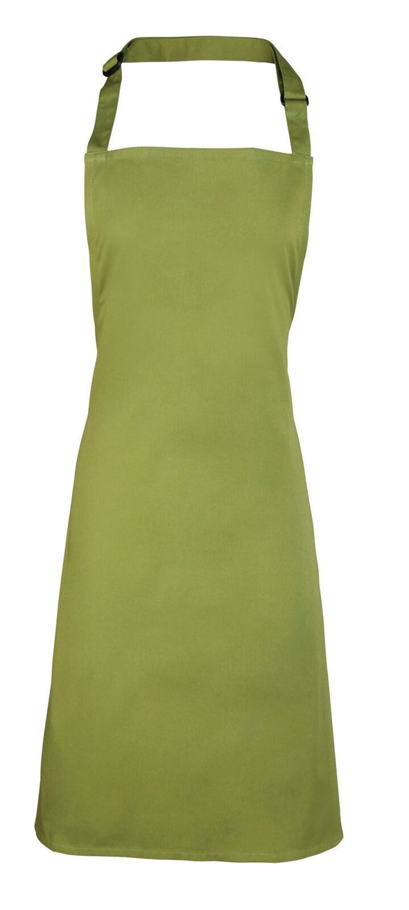Colours Bib Apron - No pocket Aprons Premier Oasis Green