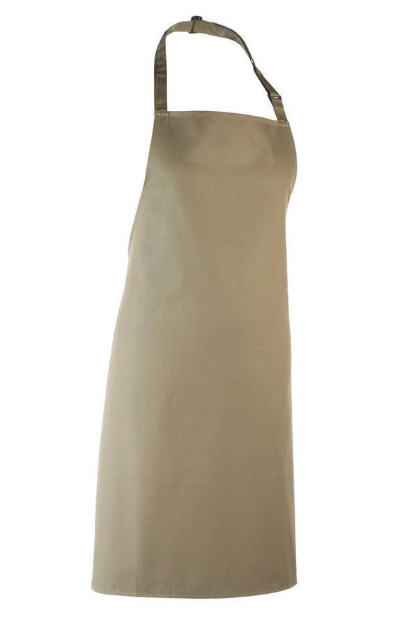 Colours Bib Apron - No pocket Aprons Premier Olive
