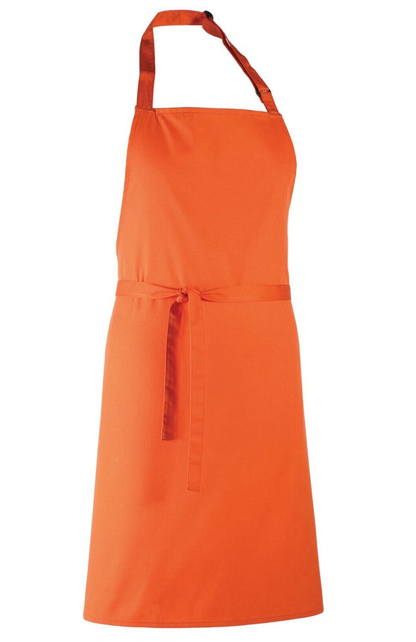 Colours Bib Apron - No pocket Aprons Premier Orange