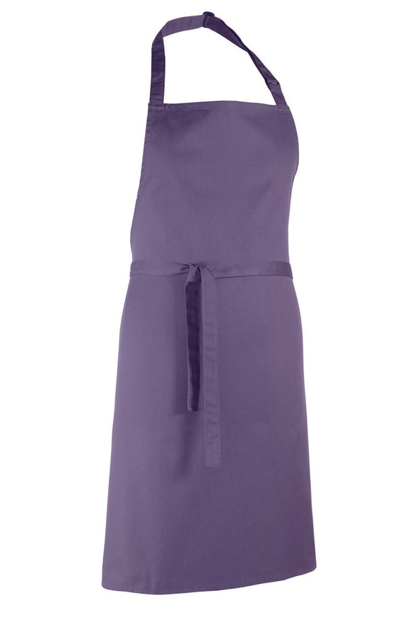 Colours Bib Apron - No pocket Aprons Premier Purple