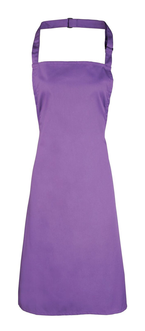 Colours Bib Apron - No pocket Aprons Premier Rich Violet