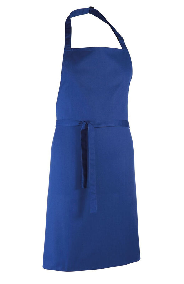 Colours Bib Apron - No pocket Aprons Premier Royal