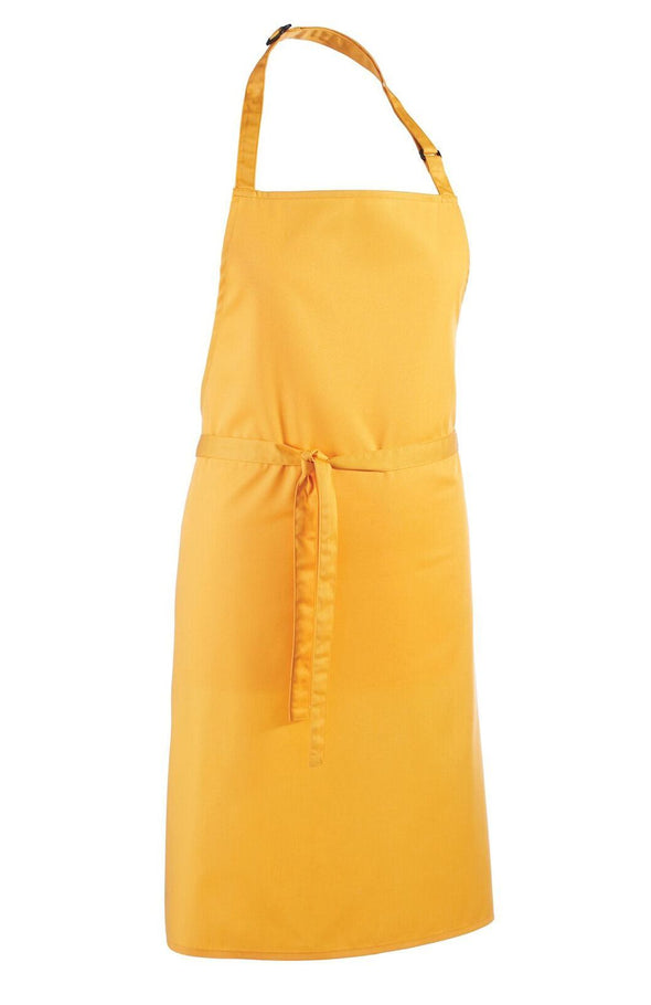 Colours Bib Apron - No pocket Aprons Premier Sunflower