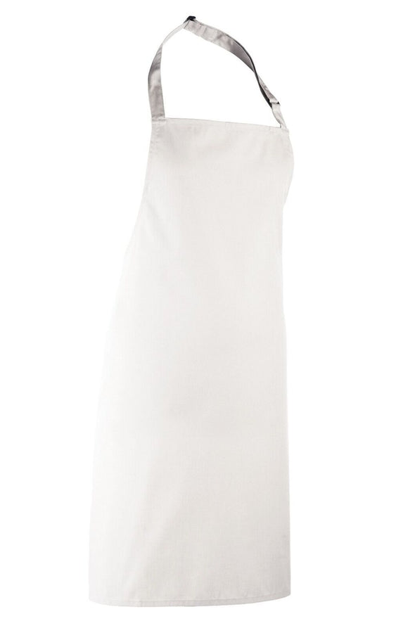 Colours Bib Apron - No pocket Aprons Premier White