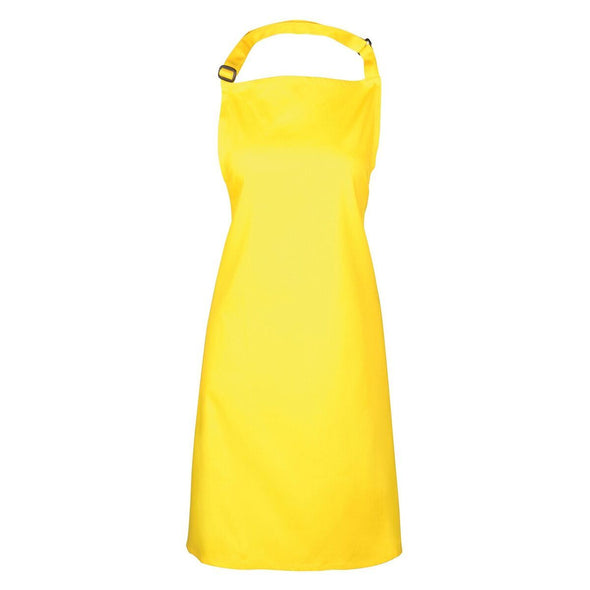 Colours Bib Apron - No pocket Aprons Premier Yellow