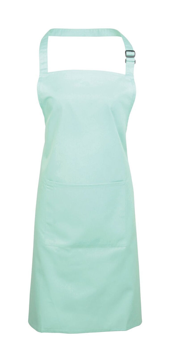 Colours Bib Apron - with Pocket Aprons Premier Aqua