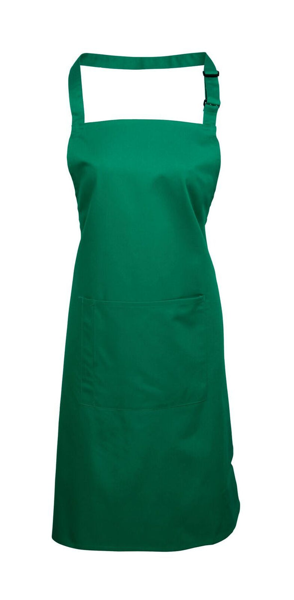 Colours Bib Apron - with Pocket Aprons Premier Emerald