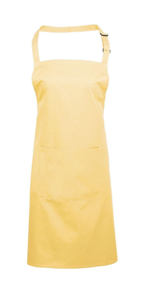 Colours Bib Apron - with Pocket Aprons Premier Lemon
