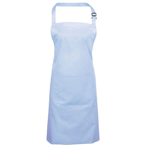 Colours Bib Apron - with Pocket Aprons Premier Light Blue