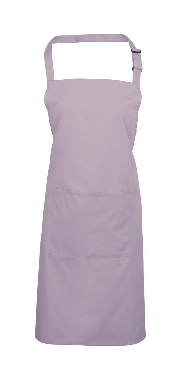 Colours Bib Apron - with Pocket Aprons Premier Lilac