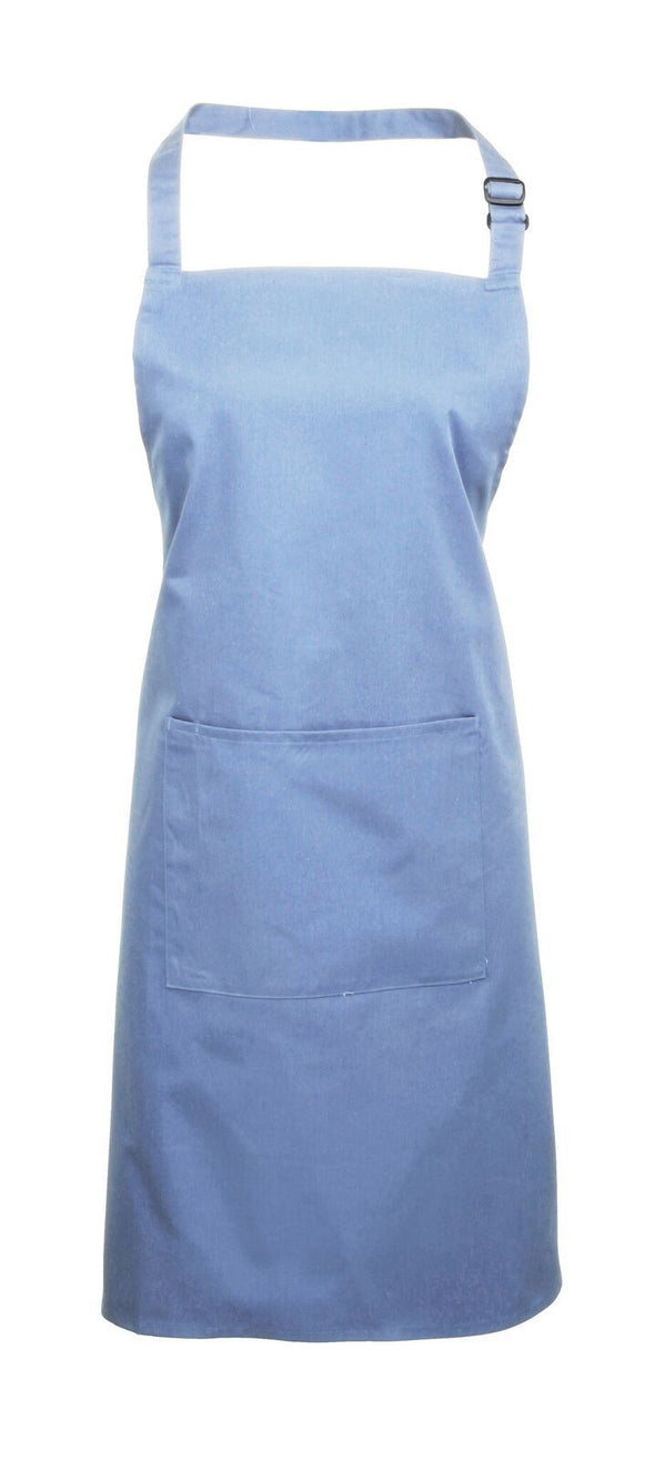 Colours Bib Apron - with Pocket Aprons Premier Mid Blue