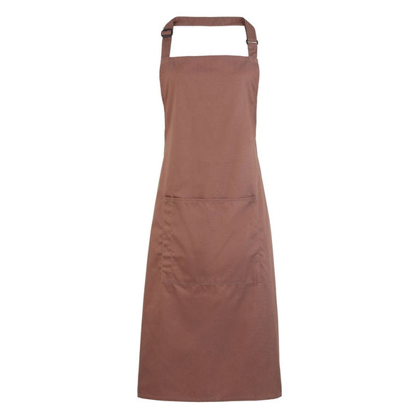 Colours Bib Apron - with Pocket Aprons Premier Mocha