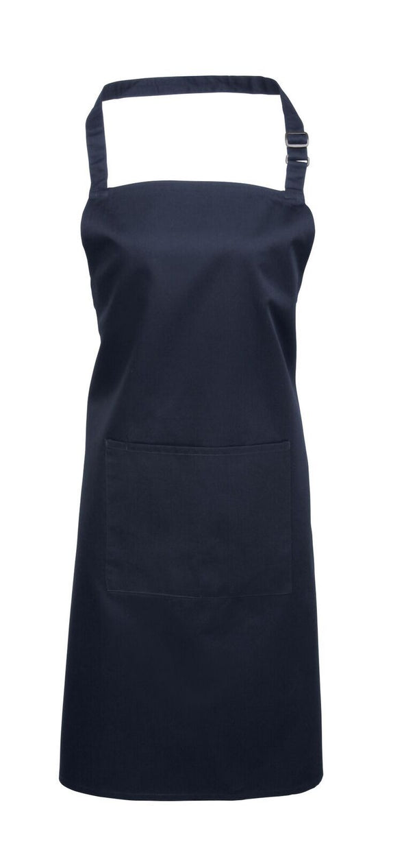 Colours Bib Apron - with Pocket Aprons Premier Navy
