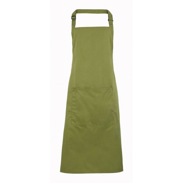 Colours Bib Apron - with Pocket Aprons Premier Oasis Green