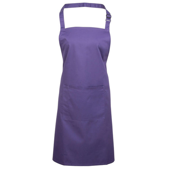 Colours Bib Apron - with Pocket Aprons Premier Purple