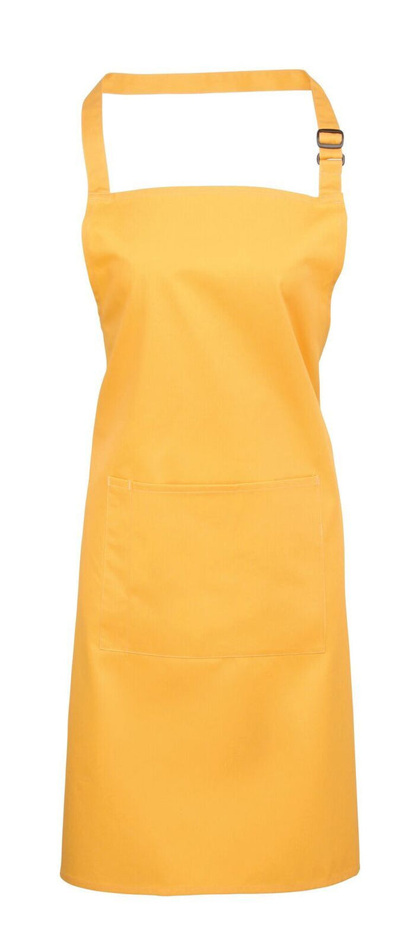 Colours Bib Apron - with Pocket Aprons Premier Sunflower