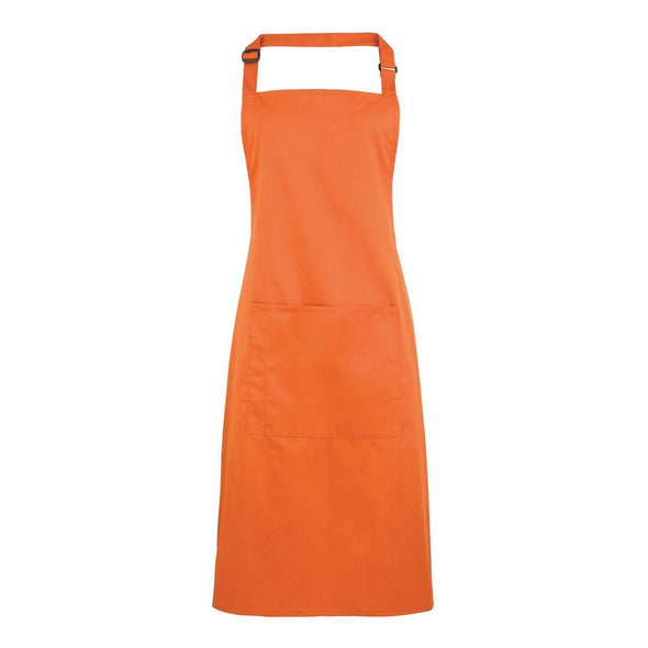 Colours Bib Apron - with Pocket Aprons Premier Terracotta