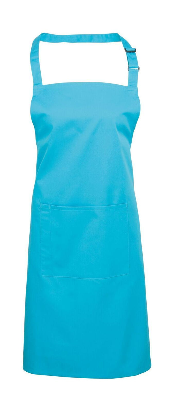Colours Bib Apron - with Pocket Aprons Premier Turquoise