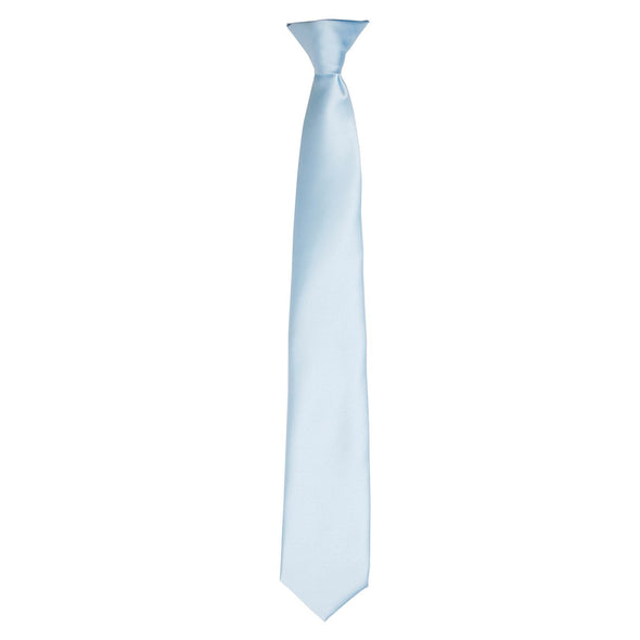 Colours Satin Clip Tie Ties Premier Light Blue