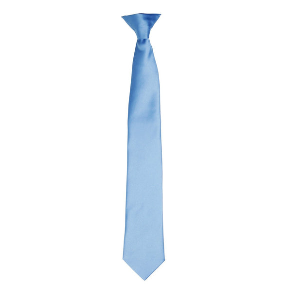 Colours Satin Clip Tie Ties Premier Mid Blue