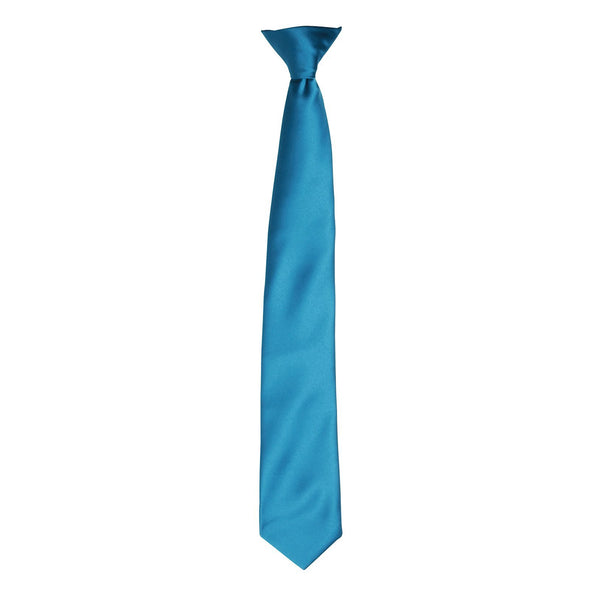 Colours Satin Clip Tie Ties Premier Teal