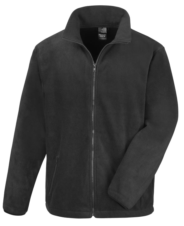 Core Fashion Fit Outdoor Fleece Mens Fleeces Result Core Black XS
