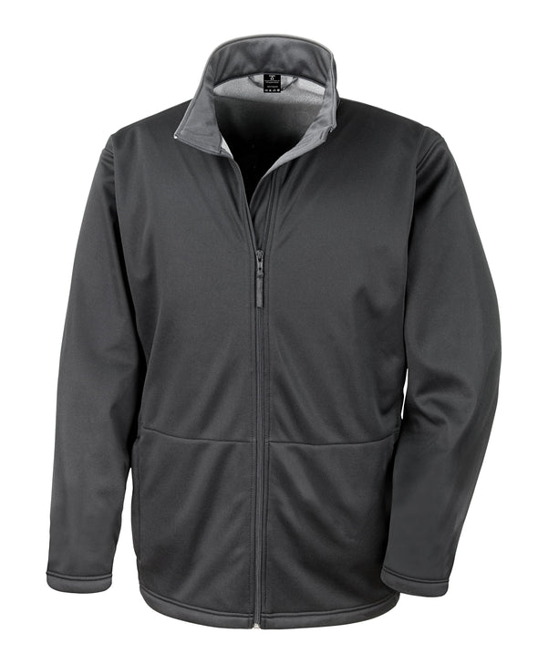 Core Softshell Jacket Mens Softshell Jackets Result Core Black XS