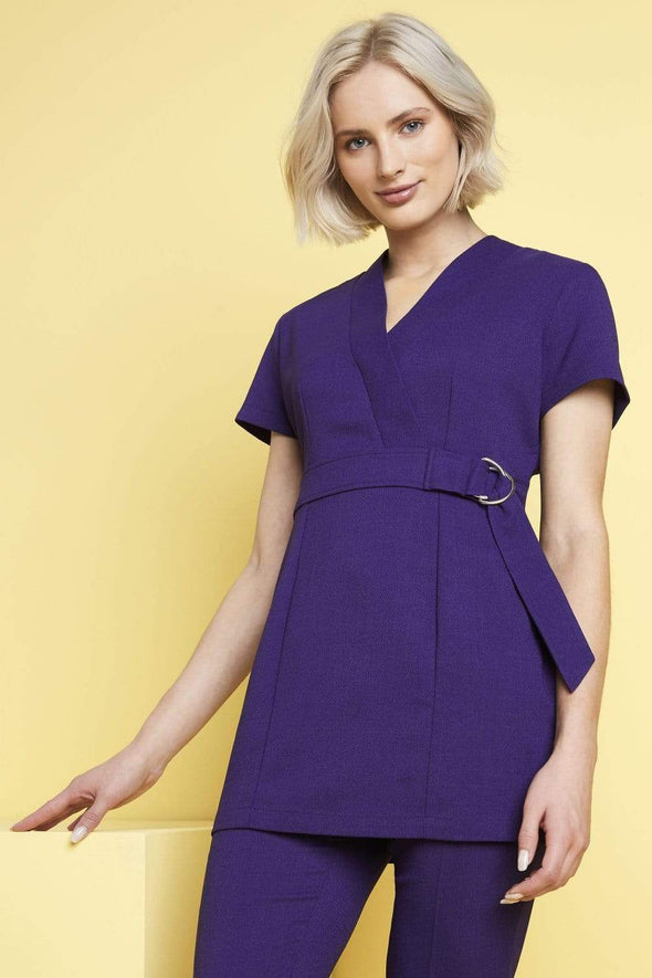 D Ring Tunic with Pockets Beauty Tunics Simon Jersey Violet 6