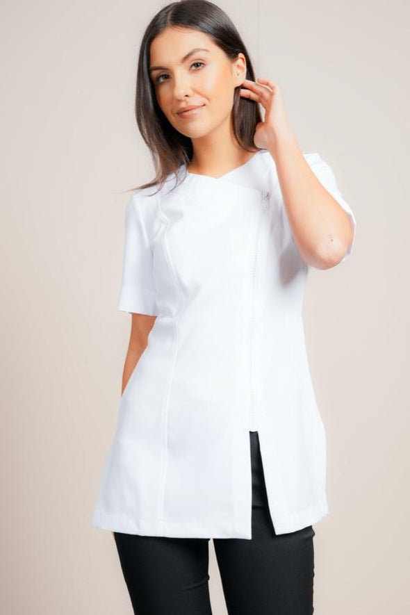 Diamante Tunic Beauty Tunics La Beeby White 6