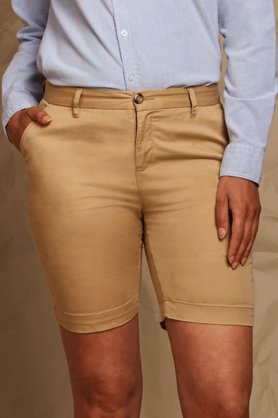 FR606 - Stretch Chino Shorts Womens Chinos Front Row & Co