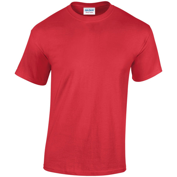 GD005 - Heavy Cotton T-Shirt Mens T-Shirts Gildan Red S