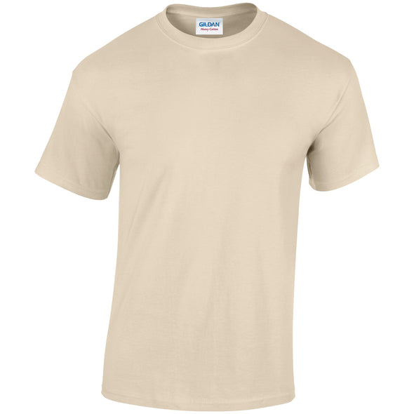 GD005 - Heavy Cotton T-Shirt Mens T-Shirts Gildan Sand S