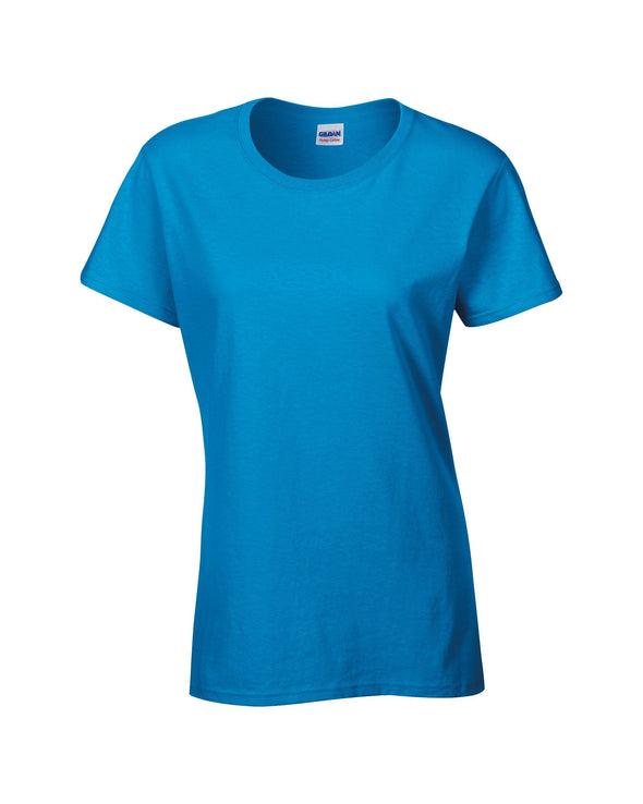 GD006 - Heavy Cotton Womens T-Shirt Womens T-Shirts Gildan Heather Sapphire S