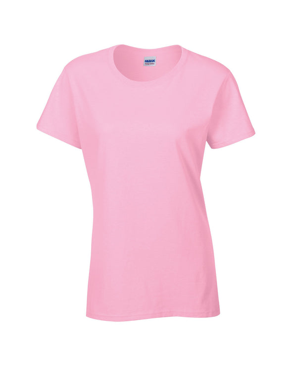 GD006 - Heavy Cotton Womens T-Shirt Womens T-Shirts Gildan Light Pink S